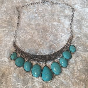 Turquoise Statement Necklace New